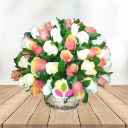 Flores Cali: Canasta de rosas 2