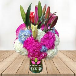 Arreglo floral  Hortensias