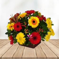Centro de mesa  con gerberas - Flores Cali
