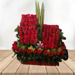 Arreglo floral Diseño de rosas