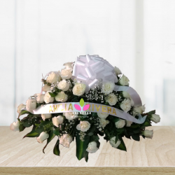 Arreglo floral Fúnebre: Cubrecaja