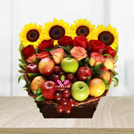Arreglo Floral Con Frutas Cali