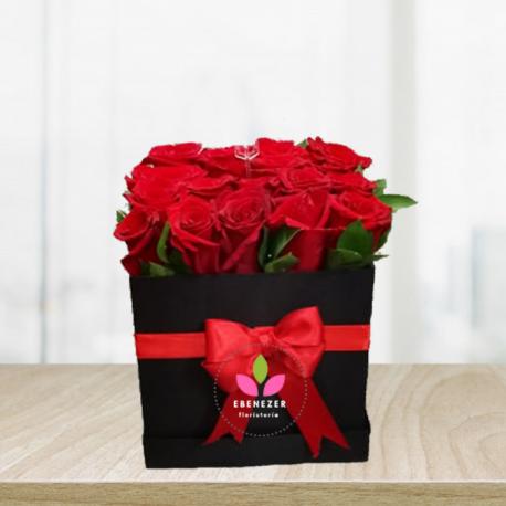 Caja de rosas