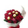 Bouquet de rosas x 24 con chocolates