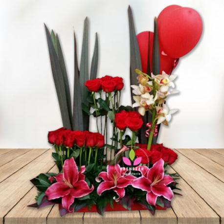 Arreglo floral  Sembrado de Rosas