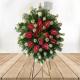 Arreglo Funebre  rosas blancas y Anturios