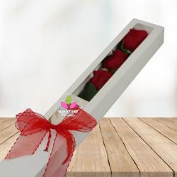 Caja de rosas x 3 unidades