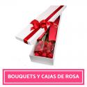 Bouquets y cajas de rosas